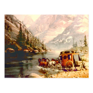 STAGECOACH RIVER CROSSING by SHARON SHARPE Post Cards