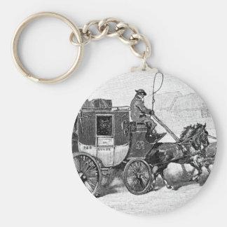 stagecoach-travel-3A stage coach-Baldwin's Reader. Keychain