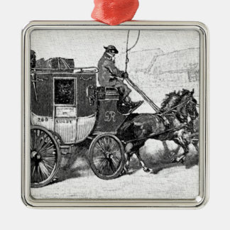 stagecoach-travel-3A stage coach-Baldwin's Reader. Metal Ornament