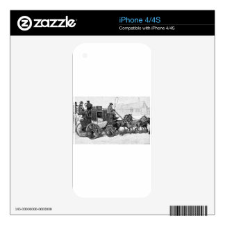 stagecoach-travel-3A stage coach-Baldwin's Reader. Skins For iPhone 4S