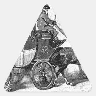 stagecoach-travel-3A stage coach-Baldwin's Reader. Triangle Sticker