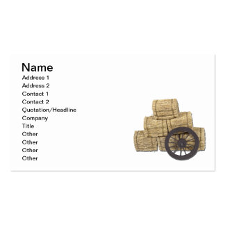 Stagecoach Wheel and Bales of Hay Business Card Template