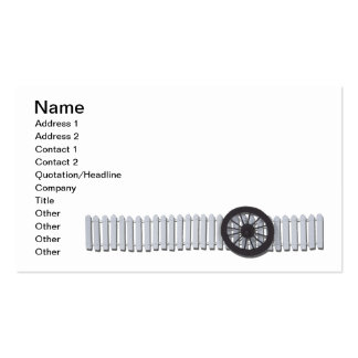 Stagecoach Wheel White Picket Fence Business Card