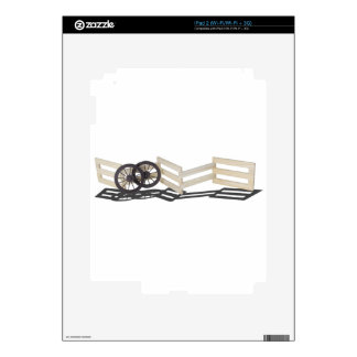 StageCoachWheelsWoodenFence062115 Decal For The iPad 2
