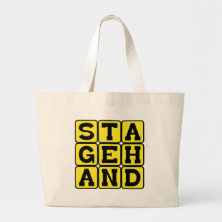 Stagehand Crew on a Theatrical Play Canvas Bag
