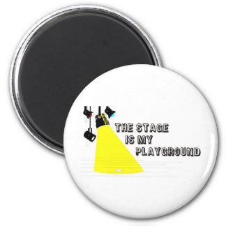 StageIsMyPlayground 2 Inch Round Magnet