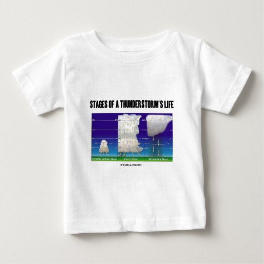 Stages Of A Thunderstorm's Life (Meteorology) Baby T-Shirt