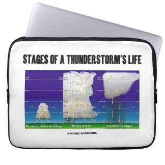Stages Of A Thunderstorm's Life Meteorology Laptop Computer Sleeve