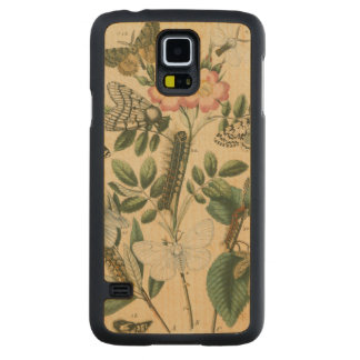Stages of Butterfly Life by Vision Studio Carved Maple Galaxy S5 Slim Case