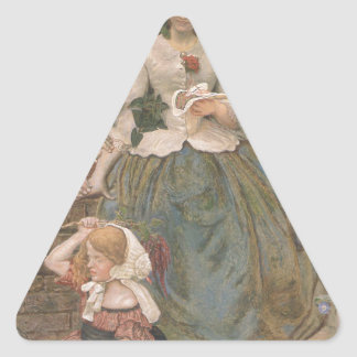 Stages of Cruelty by Ford Madox Brown Triangle Sticker