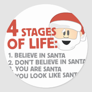 Stages of Life Classic Round Sticker