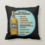 Stages of Tequila Throw Pillows