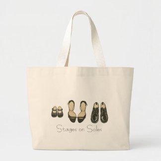 Stages on Soles Large Tote Bag
