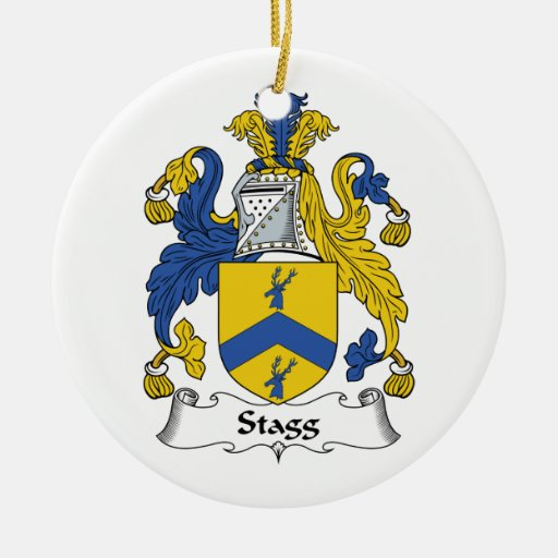 Stagg Family Crest Christmas Tree Ornament