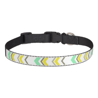 Staggered Arrows Modern Chevron Geometric Pattern Pet Collar