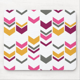 Staggered Arrows Modern Geometric Pattern Mousepad