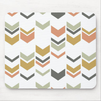 Staggered Chevron Modern Geometric Pattern Mouse Pad