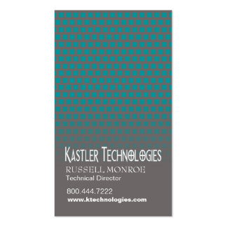 Staggered Squares Hi-Tech Technology Computer Business Cards