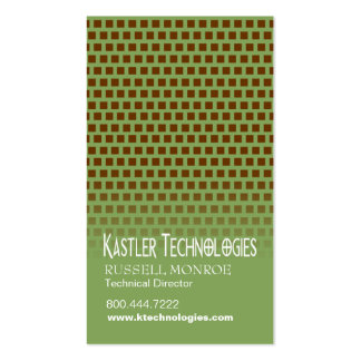Staggered Squares Hi-Tech Technology Computer Business Card Templates