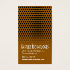 Staggered Squares Hi-tech Technology Computer Business Card at Zazzle