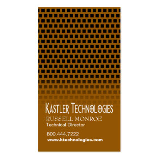 Staggered Squares Hi-Tech Technology Computer Double-Sided Standard Business Cards (Pack Of 100)