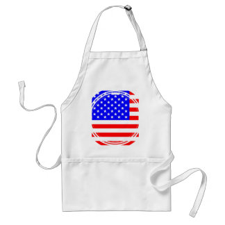 Staggered Stars and Stripes Adult Apron