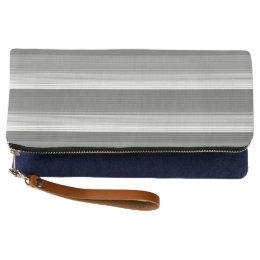 staggered stripe clutch bag