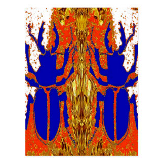 Staghorn Beetle Twins Gold Gifts Postcard