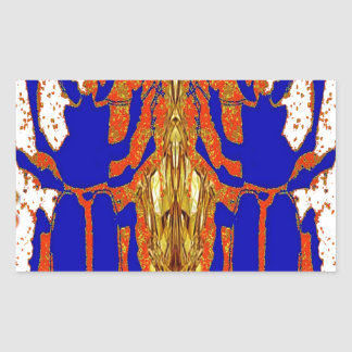 Staghorn Beetle Twins Gold Gifts Rectangular Sticker