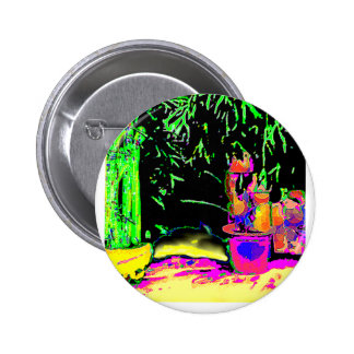 Staghorn Fern GO GREEN1a jGibney The MUSEUM Zazzle Pinback Button