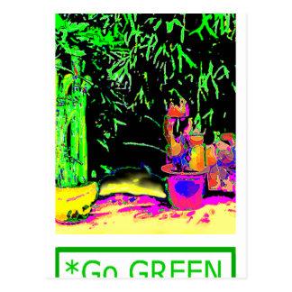 Staghorn Fern GO GREEN1a jGibney The MUSEUM Zazzle Postcard
