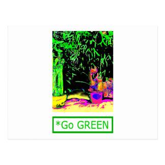 Staghorn Fern GO GREEN jGibney The MUSEUM Zazzle G Postcard