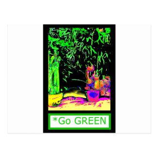 Staghorn Ferns GO GREEN jGibney The MUSEUM Zazzle Postcard