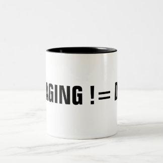 STAGING != DEV Two-Tone COFFEE MUG