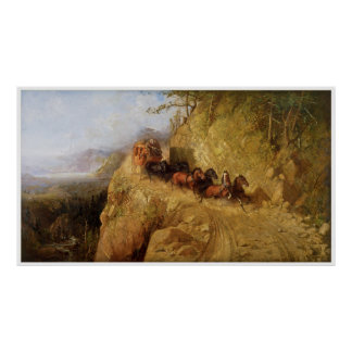 Staging in California by Gutzon Borglum Poster