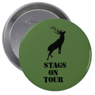 """""""Stags on Tour"""" badges. Stag design Button"""