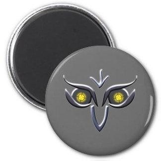 Stahl Eisen Eule steel iron owl 2 Inch Round Magnet