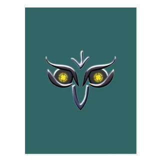 Stahl Eisen Eule steel iron owl Postcard