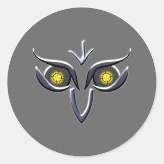 Stahl Eisen Eule steel iron owl Classic Round Sticker