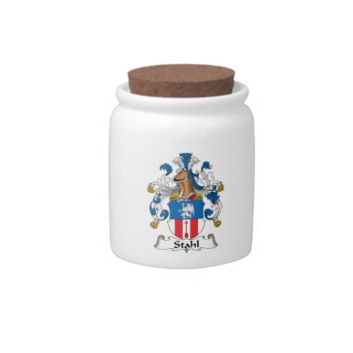 Stahl Family Crest Candy Jar