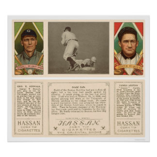 Stahl Red Sox broncea el béisbol 1912 Impresiones
