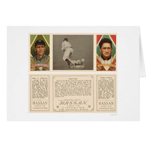 Stahl Red Sox Browns Baseball 1912 Greeting Card