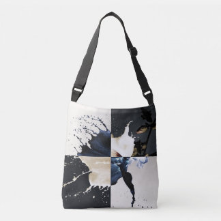 stain flower crossbody bag