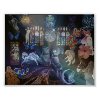 Stain Glass Angels Poster