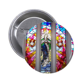 Stain Glass Christmas Button