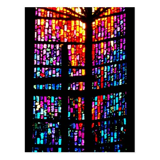 Stain Glass Cross Postcards