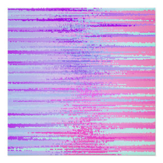 Stain Glass Effect Abstract Striped Colorful Print
