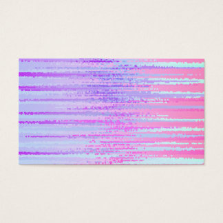 Stain Glass Effect Abstract Striped Colorful Print Business Card