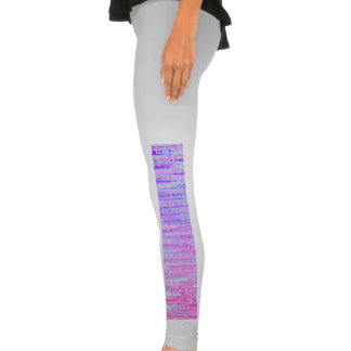 Stain Glass Effect Abstract Striped Colorful Print Legging