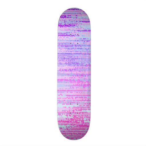 Stain Glass Effect Abstract Striped Colorful Print Skate Deck